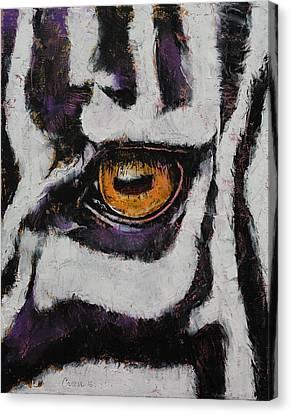 Zebra Canvas Print by Michael Creese