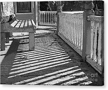 Canvas Print featuring the photograph Zebra Porch by Betsy Zimmerli