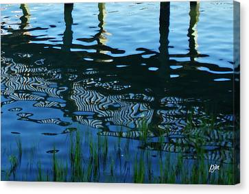 Canvas Print featuring the photograph Zebra Reflections by Phil Mancuso