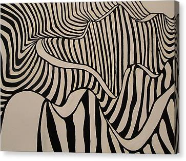 Abstact Landscapes Canvas Print - Zebra Road by Stephen Ponting