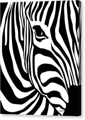Zebra Canvas Print by Ron Magnes