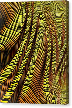 Zebra Stripe Yellow Canvas Print