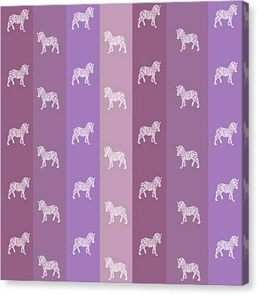 Zebra Stripes Pattern Canvas Print