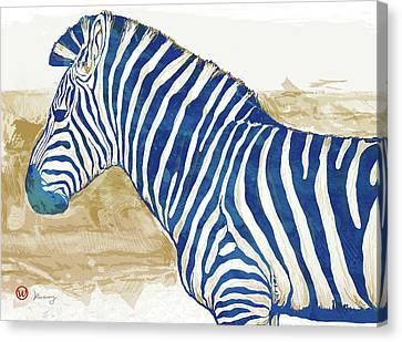 Zebra Art Canvas Print - Zebra - Stylised Pop Art Poster by Kim Wang