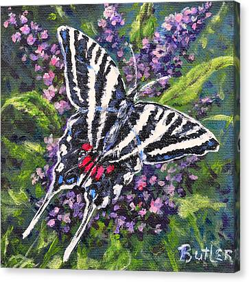 Zebra Swallowtail Canvas Print by Gail Butler
