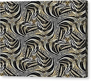 Zebra Vii Canvas Print by Maria Watt