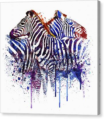 Couple Canvas Print - Zebras In Love by Marian Voicu