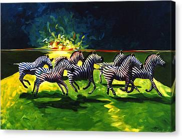 Zebz Canvas Print by Lance Headlee