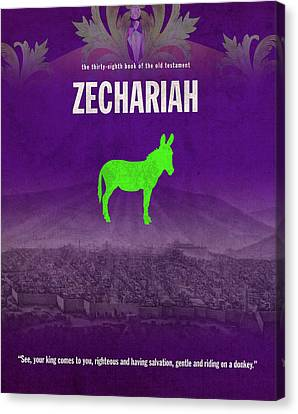 Zechariah Books Of The Bible Series Old Testament Minimal Poster Art Number 38 Canvas Print