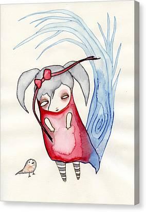 Goth Girl Canvas Print - Zeeroh Tew by Lindsey Cormier