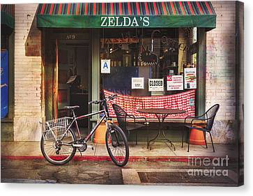 Zelda's Bicycle Canvas Print by Craig J Satterlee