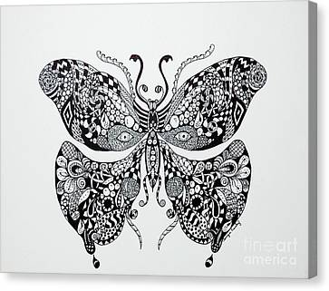 Zen Butterfly Canvas Print