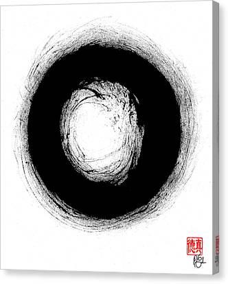 Zen Circle Three Canvas Print by Peter Cutler