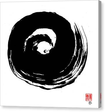 Zen Circle Wave Canvas Print by Peter Cutler