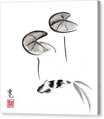 Zen Fish Painting Canvas Print