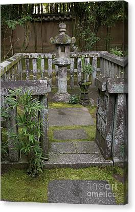 Bamboo House Canvas Print - Zen Garden, Kyoto Japan 3 by Perry Rodriguez