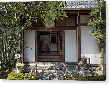 Bamboo House Canvas Print - Zen Garden, Kyoto Japan 4 by Perry Rodriguez