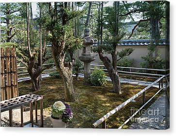 Bamboo House Canvas Print - Zen Garden, Kyoto Japan 5 by Perry Rodriguez
