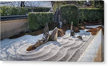Bamboo House Canvas Print - Zen Garden, Kyoto Japan 6 by Perry Rodriguez