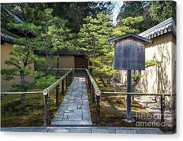 Bamboo House Canvas Print - Zen Garden, Kyoto Japan by Perry Rodriguez