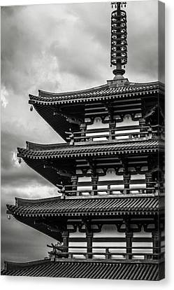 Zen In Black And White Canvas Print by Eduard Moldoveanu