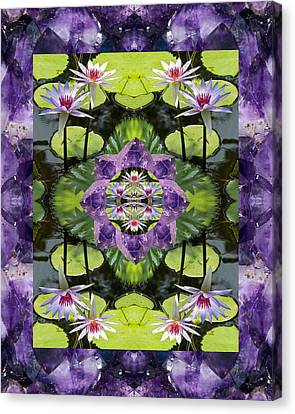 Zen Lilies Canvas Print by Bell And Todd