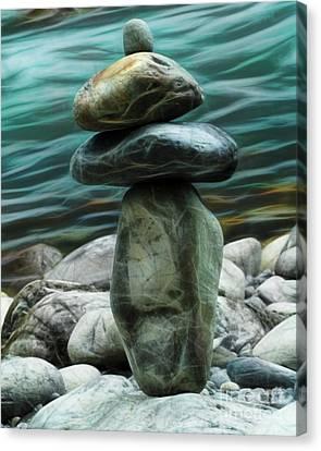Canvas Print featuring the photograph Zen Rocks by Yulia Kazansky