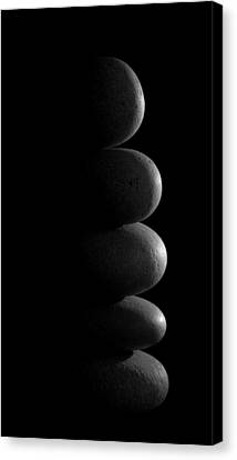 Zen Stones In The Dark Canvas Print by Marco Oliveira