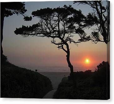 Zen Sunset Canvas Print by HW Kateley