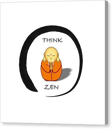 Zen Symbol With Buddha Canvas Print
