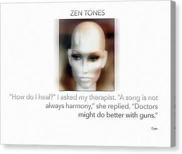 Parable Canvas Print - Zen Tones  by Steven Digman