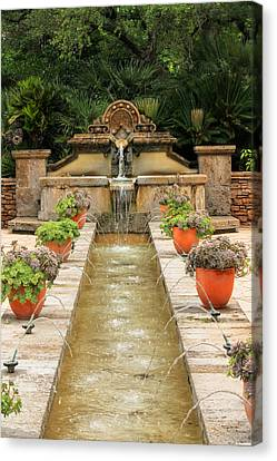 Zen Water Feature Waterfall Canvas Print
