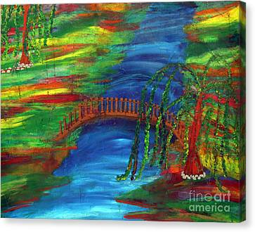 Zenful Moment Canvas Print by Michelle Teague