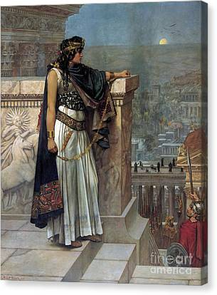 Zenobia's Last Look On Palmyra Canvas Print by Herbert Gustave Schmalz