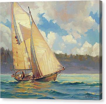 Puget Sound Canvas Print - Zephyr by Steve Henderson