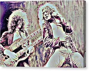 Zeppelin Concert On Wood  Canvas Print