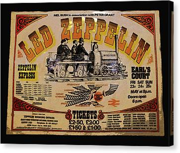 Led Zeppelin Artwork Canvas Print - Zeppelin Express by David Lee Thompson