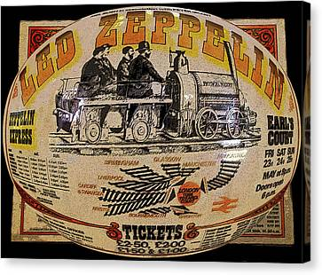 Led Zeppelin Artwork Canvas Print - Zeppelin Express Work B by David Lee Thompson