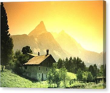 Swiss Canvas Print - Zermatt Sunset   William Kaluta Artist by William Kaluta