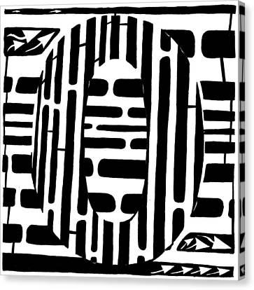 Zero Maze Canvas Print by Yonatan Frimer Maze Artist