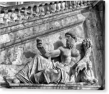 Zeus Black And White Canvas Print by Stefano Senise