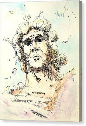 Zeus Canvas Print by Dave Martsolf