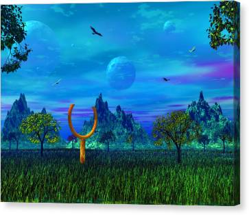Canvas Print featuring the photograph Zhahnjroom by Mark Blauhoefer