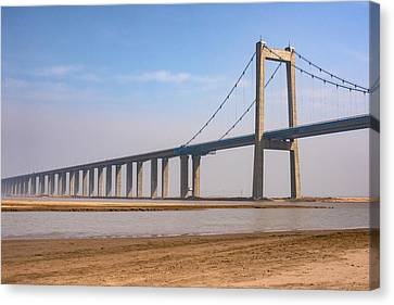 Zhengzhou Taohuayu Huanghe Bridge  Canvas Print