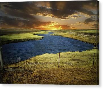 Zig Zag River Canvas Print