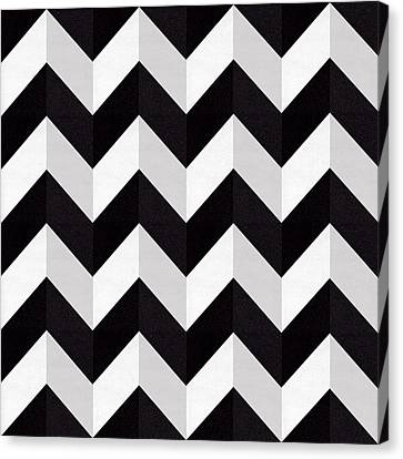 Pattern Canvas Print - Zig Zag - Shadow by Chuck Staley