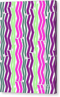 Zig Zig Stripes Canvas Print