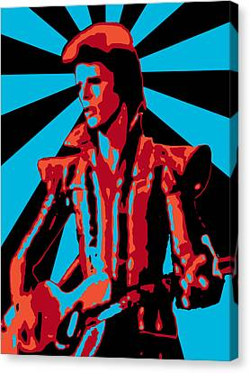 Ziggy Played Guitar Canvas Print by Lance Vaughn