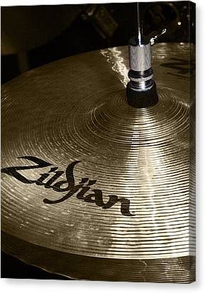 Zildjian Cymbal Canvas Print by Jim Mathis