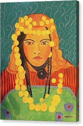 Canvas Print featuring the painting Zina by John Keaton